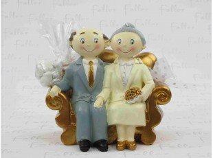 Dragées de mariage noces d'or avec son couple