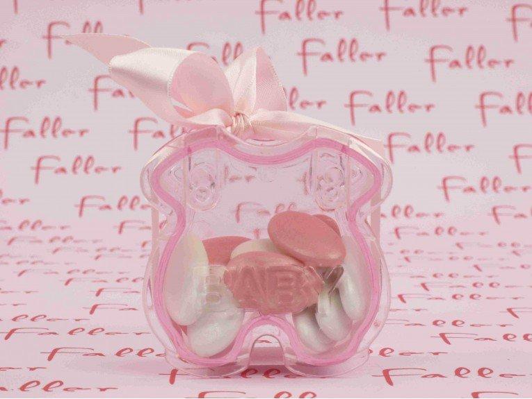 Body rose avec dragées de naissance