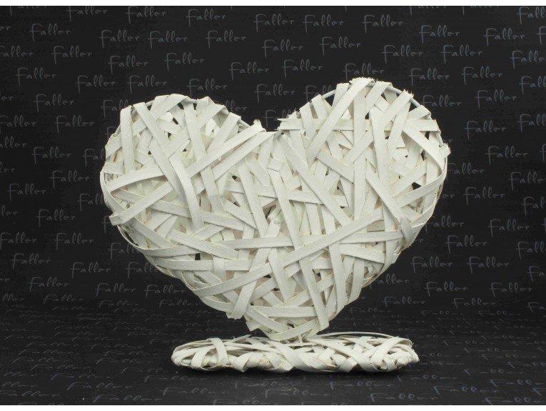 Présentoir dragées : Coeur osier (pm)