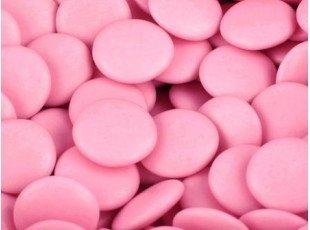 Sachet de dragées confettis chocolat rose de 500 gr