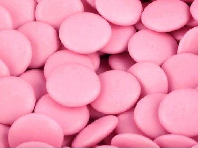 500 grammes de confettis  au chocolat rose