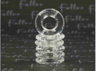 Socle anneau transparent pour boule plexi