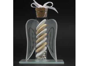 Eprouvette aile d'ange et dragées communion