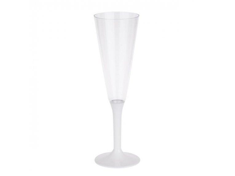 Flute a champagne blanche (plastique)