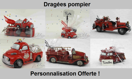 Dragées pompier - Déco thème pompier
