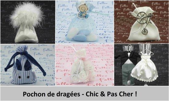 Pochon de dragées originaux - Chic & Pas Cher