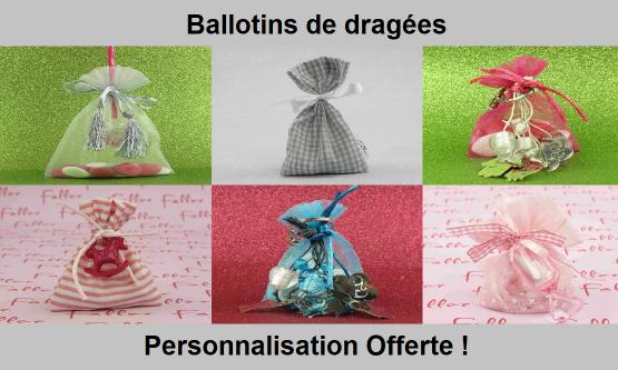 Ballotin dragées originaux - Chic & Pas Cher