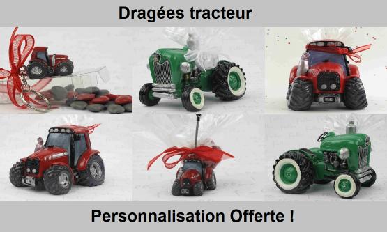 Dragées tracteur - Déco thème tracteur