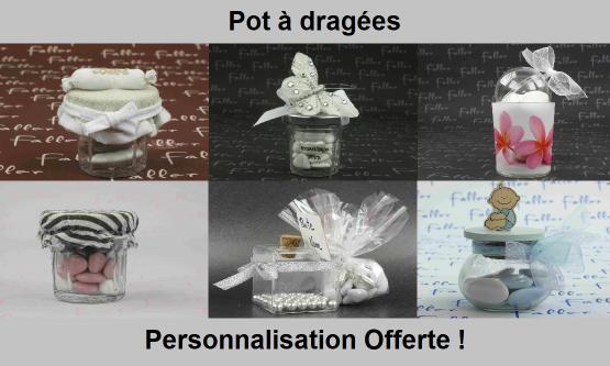 Pot à dragées originaux - Chic & Pas Cher