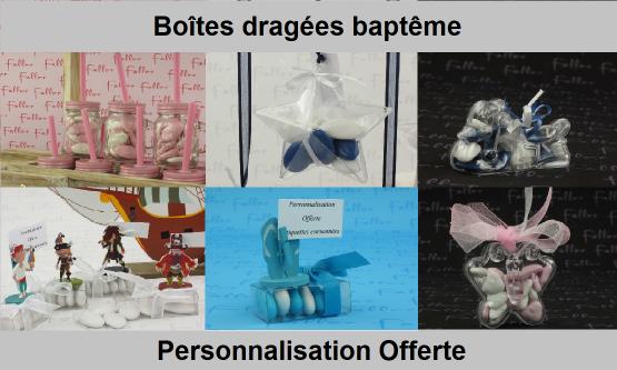 Boite Dragées Baptême - Chic & Pas Cher