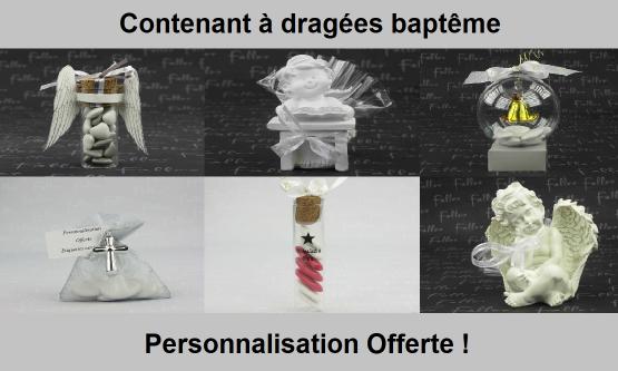 Contenant Dragées Baptême - Chic & Pas Cher