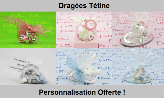 Dragées Tétine - Déco de table Naissance & Baptême