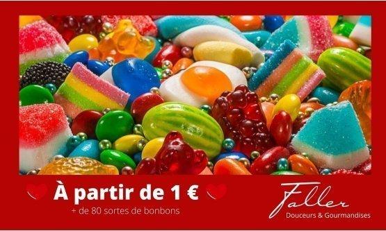 Bonbons pas cher, c'est Bonbons Faller !