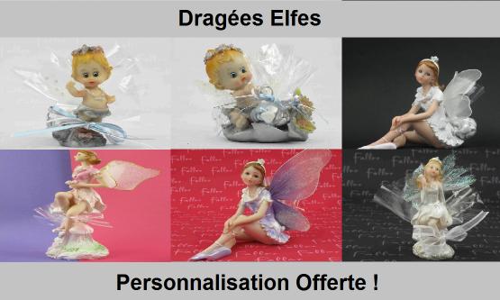 Dragées elfes - Déco de baptême pour fille