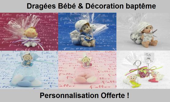 Dragées bébé, biberon, tétine, goutte | Dragées Faller