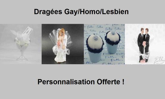 Dragées gay homo lesbien - Dragées mariage pour tous