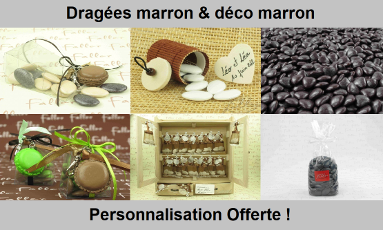 Dragées Marron