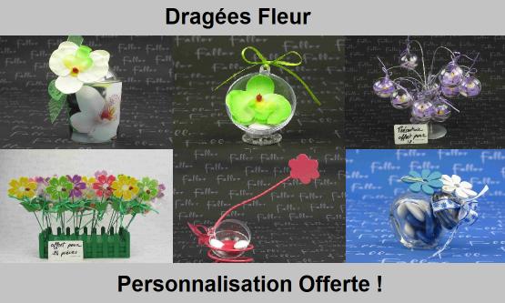 Dragées fleurs - Déco de table thème floral