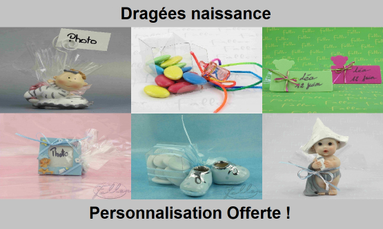 Dragées naissance - Chic & Pas Cher | Dragées Faller