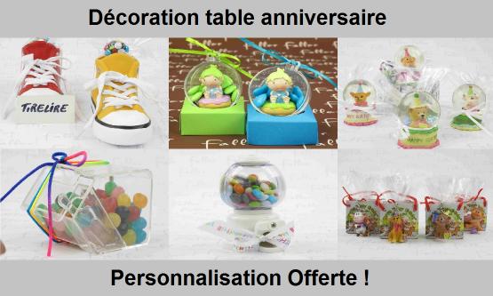 Décoration d'anniversaire, bonbons et cadeaux gourmands