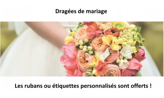 Achat dragees mariage à Rennes