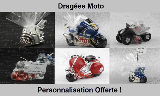 Dragées moto - Déco thème moto