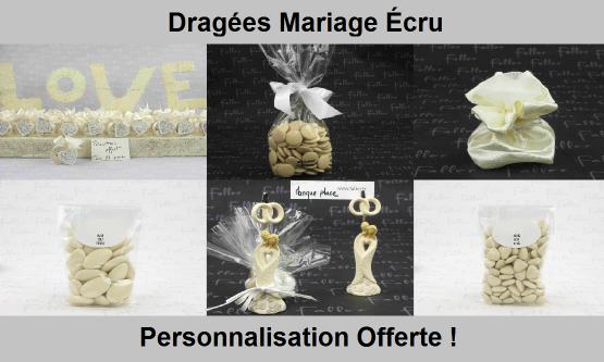 Dragées mariage écru - Chic & pas cher !