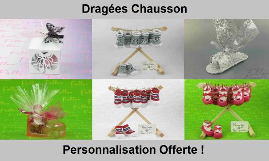 Dragées Chausson - Déco thème chausson / chaussure