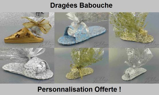 Dragées Babouche - Mariage oriental babouche et dragées