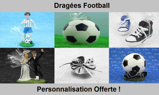 Dragées Football - Crampons, ballon, footbaleur
