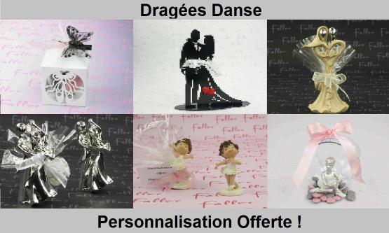 Dragées danse - Ballerine, couple de danseurs